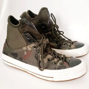 Converse Chuck Green Camouflage High Top Sneakers